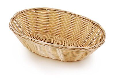 New Star Foodservice 44225 Polypropylene Oval Hand Woven Fast Food Basket