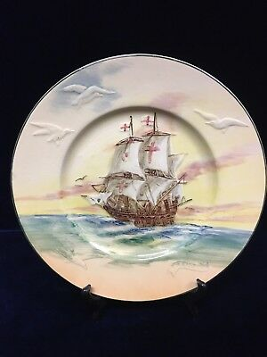Vintage Royal Doulton Famous Ships The Revenge Plate Made In England