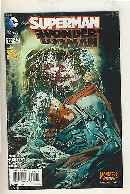 Superman/Wonder Woman (2014) 12 NM Monsters of the Month Variant Cover