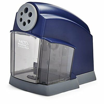 OPENED BOX SchoolPro Classroom Electric Pencil Sharpener, Heavy Duty, Blue/Grey