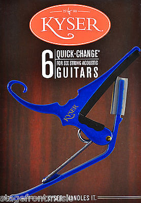 Kyser  Quick Change Blue Capo For Acoustic Guitars - Made In Usa