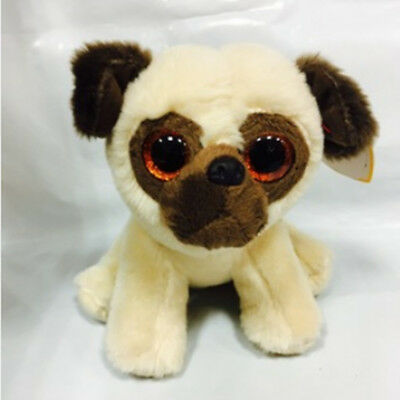 Cute Starling dog TY Beanie Boos Plush Stuffed Toys Glitter Eyes (6 inch)