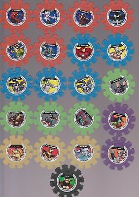 Woolworths Marvel Heroes Discs x33 Inclues 06. Kid-Arachnid & 01. Spider-Man