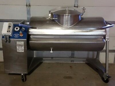 Daniels Food Equipment Model DVTS 500 Pound Stainless Steel Vacuum Meat Tumbler