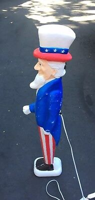"""Union Blow Mold Uncle Sam Don Featherstone 36"""""""