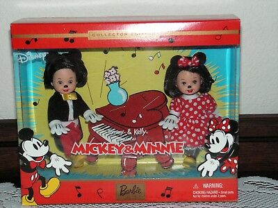 Tommy & Kelly dressed as DISNEY Mickey & Minnie Mouse COLLECTOR EDITION 2002 NIB
