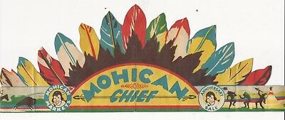 C. 1950's Mohican Markets Anniversary Sale Child's Paper Indian Chief Headdress