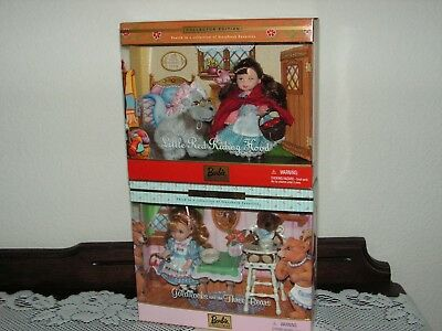 LOT of 2 STORYBOOK Favorites #3 GOLDILOCKS and #4 LITTLE RED RIDING HOOD dolls