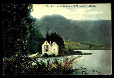 """1¢ Wonder's ~ Postcard W/ """"on The Lake At Furnas"""" St. Michael's Azores ~ C843"""