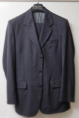 Anthony Squires Wool Blend Single Breasted Suit 2x Trousers