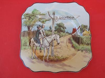 Antique Royal Doulton Wall Plate ''To London'' Design England C1930.