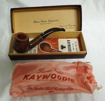 Beautiful Vintage Mint Kaywoodie Smoking Pipe with Original Pouch Box and Papers