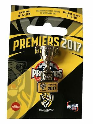 Richmond Tigers AFL Premiers 2017 Trophy  Lapel Pin