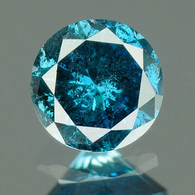 0.18 cts. SALE!! CERTIFIED Round Cut Fancy Blue Color Loose Natural Diamond 8002
