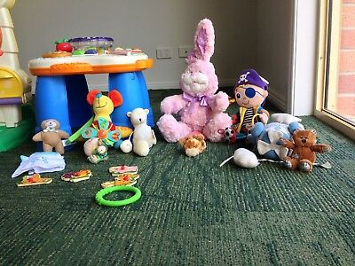 Baby Toy Bundle(activity Tablet,pirate,bunny,blocks....bulk Toys)