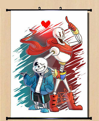 Anime Game Undertale Sans Papyrus Wall Scroll Home Decor Poster 40*60cm