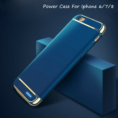 Wireless For iPhone 8 6S 7 Plus External Power bank Charging Cover Charger Case