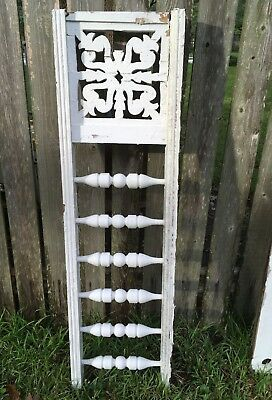 "ANTIQUE RAILING  w 6 BALUSTERS 1800s ARCHITECTURAL SALVAGE VICTORIAN 49"" DESIGN"