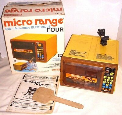 Vintage Coleco Child's Toy Micro Range Electric Oven - 1978 Still Works