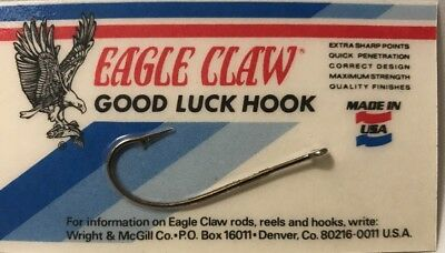 Vintage  Eagle Claw Good Luck Hook Made In USA.  New!  Discontinued Old Stock