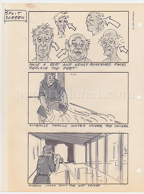 In God We Trust Movie Storyboard Art Aldana Marty Feldman Lot Of 3 Pages Mop