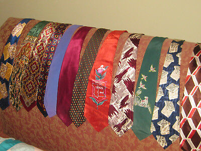 1940's VINTAGE BOLD TIE LOT of 12 PAISLEY METCALF MN