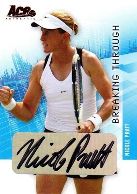 2007 Limited Nicole Pratt Acp Authentic Signed #bt-20 A Tennis Card