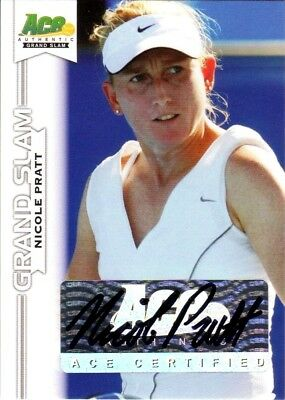 2013 Limited Nicole Pratt Acp Authentic Signed #ba-Np2 B Tennis Card