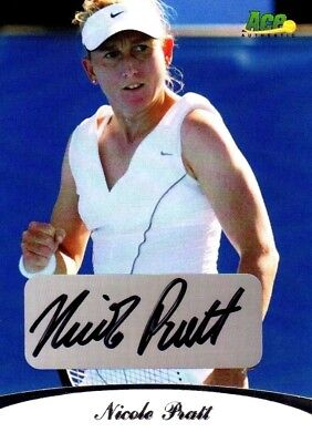 2010 Limited Nicole Pratt Acp Authentic Signed #r9 37/85 Tennis Card