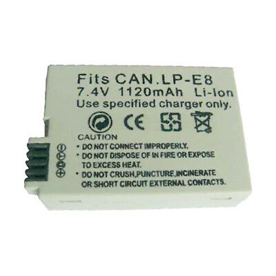 LP-E8 Replacement Battery for CANON EOS 550D (EOS Rebel T2i / EOS Kiss X4) Cam