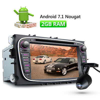 """7"""" Car Stereo GPS Android 7.1 2GB RAM HDMI for Ford Mondeo Focus + DVR Dashcam W"""