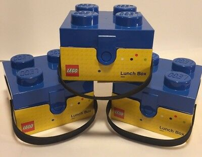 LEGO Lunchbox with Handle Bright Blue Storage building block