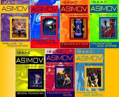 Isaac Asimov Sci Fi Classic FOUNDATION Series 1-7 INCLUDING 2 PREQUELS Brand New