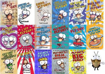 FLY GUY Series by Tedd Arnold HARDCOVER Collection Books 1-17 WITH PLUSH FLY GUY