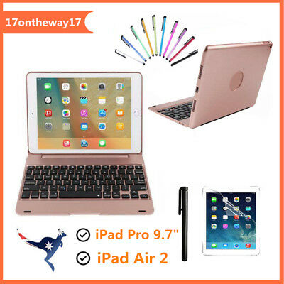 For iPad Air2 Wireless Bluetooth Keyboard Folio Smart Case Cover Stand Protector