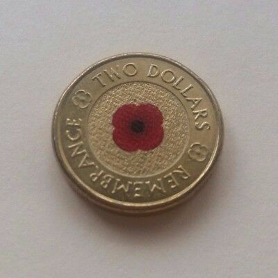 2012 $2 Red Poppy Remembrance Coin Circulated