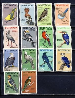 Botswana 1966 beautiful birds of Africa set mnh vf complete     74.35.