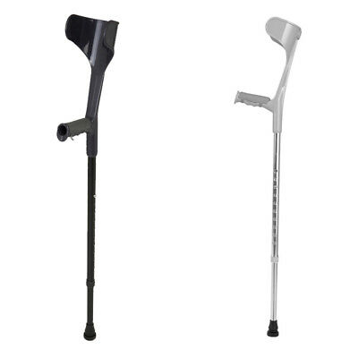 Height Adjustable Elbow Crutches Open Cuff Crutches Comfy Handle Walking Aids
