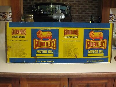 Golden Fleece 4 gallon unused tin sheet.