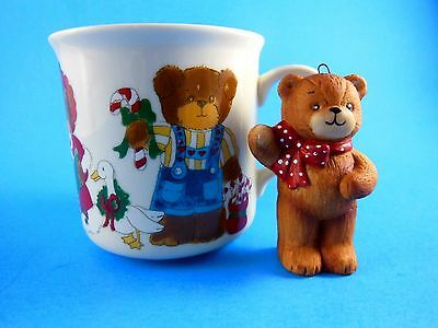 Rare Vintage 1985 Lucy & Me Family Christmas Mug and Ornament Enesco