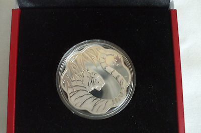 RCM 2010 $15 Tiger Lotus DC (Proof) Silver Commemorative