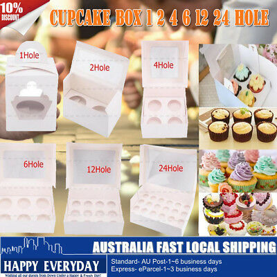 Cupcake Box 1 hole 2 hole 4 hole 6 hole 12 hole 24 hole Christmas Gift Party HOT