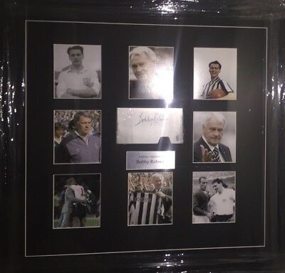 Signed Rare Sir Bobby Robson England Newcastle Ipswich Framed Display