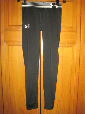 Under Armour Heat Gear fitness tights pants girls YMD M running soccer black