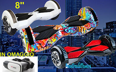 HOVERBOARD 8 pollici SCOOTER SMART BALANCE MONOPATTINO SKATEBOARD BLUETOOTH