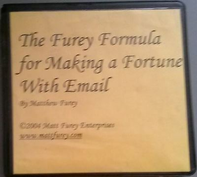 Matt Furey - The Furey Formula for Making a Fortune With Email - rarest 1st edt!