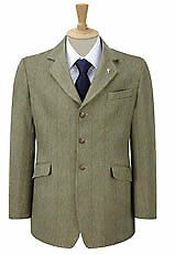 Caldene Competition Jacket Kent Derby Tweed Mens Green x Size 36""