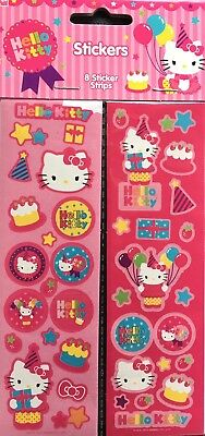 Hello Kitty Stickers New Sealed Free Ship Stocking Stuffer 8 Strips