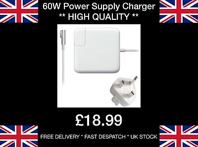 60W Power Supply Charger For MagSafe 1 L-Tip For MacBook and 13-inch MacBook Pro