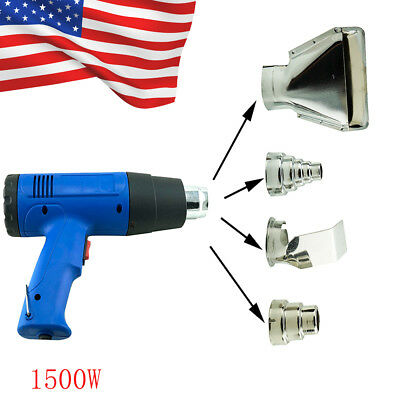 USA Heat Gun Hot Air Gun Dual Temperature+4 Nozzles Power Tool 1500 W Heater Gun
